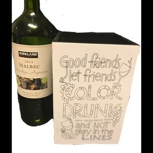 Wine Holder Motivational Sign Decorative Accent